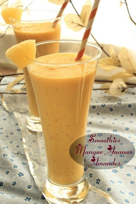 smoothie mangue ananas amandes 8