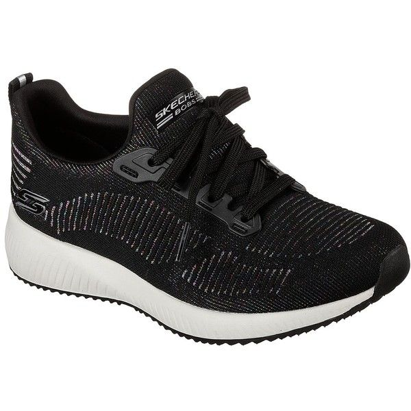 Skechers Women's Bobs Sport Squad - Multifaceted Black - Skechers (€41) ❤ liked on Polyvore featuring shoes, black, multicolor shoes, multi colored shoes, skechers footwear, sports shoes and multi coloured shoes