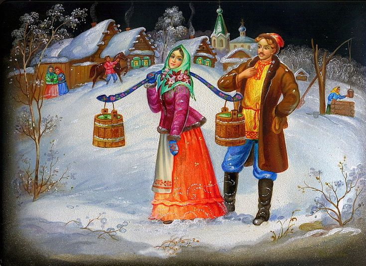 Russian lacquer miniature - Fedoskino \\ The village of Fedoskino, located 40 kilometers to the north from Moscow on the bank of river Ucha, is Russia's oldest center of lacquer miniature painting.