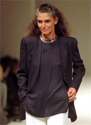 Grey chic: Benedetta Barzini