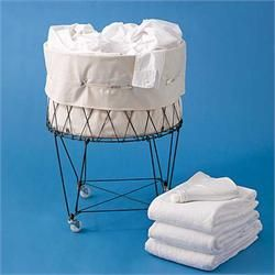 Go to Collapsible French Wire Laundry Basket with Wheels