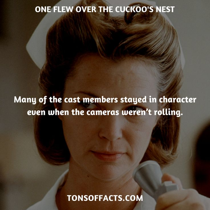 Many of the cast members stayed in character even when the cameras weren't rolling. #oneflewoverthecuckoosnest #movies #interesting #facts #fact #trivia #awesome #amazing #1 #memes #moviefacts #movietrivia #oneflewoverthecuckoosnestfacts #oneflewoverthecuckoosnesttrivia