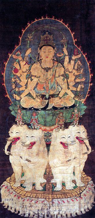 普賢延命 Samantabhadra Bodhisattva, known by some Buddhists as the protector of the Lotus Sutra.