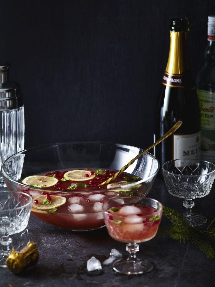 Punch van champagne en granaatappel - Libelle Lekker