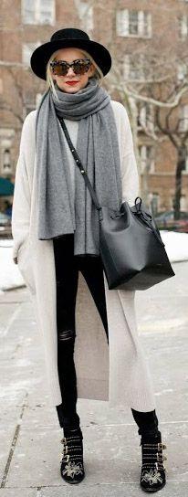 Street Style February 2015: Blair Eadie is wearing a Zara sweater jacket, a black bucket bag from Mansur Gavriel and Stella McCartney sunglasses                                                                                                                                                                                 More