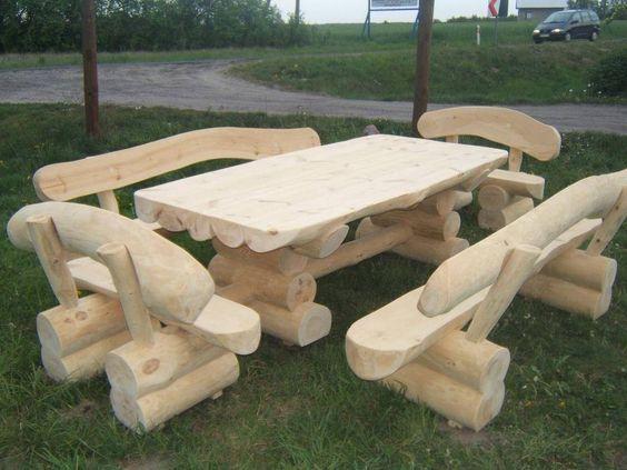 Rustikale Gartengarnitur, Rustikale Möbel, Rustikale Gartenmöbel,  Gartenbank In Garten U0026 Terrasse, Möbel