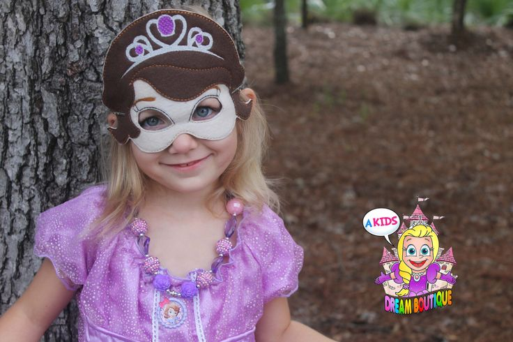A personal favorite from my Etsy shop https://www.etsy.com/listing/247360314/sofia-the-first-mask-sofia-costume-sofia
