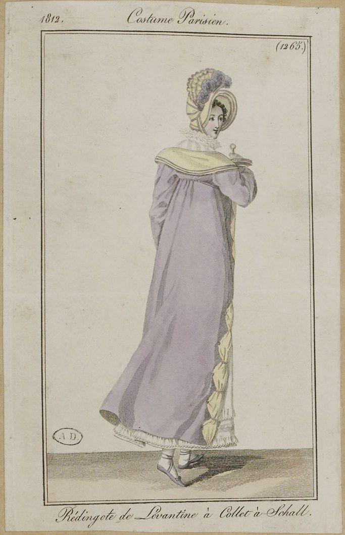 Journal des dames et des modes / Costume Parisien: 25 Octobre, 1812 (b)
