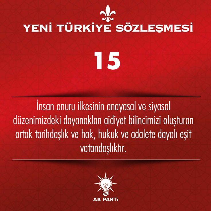 15.Madde, #YeniTürkiyeSözleşmesi