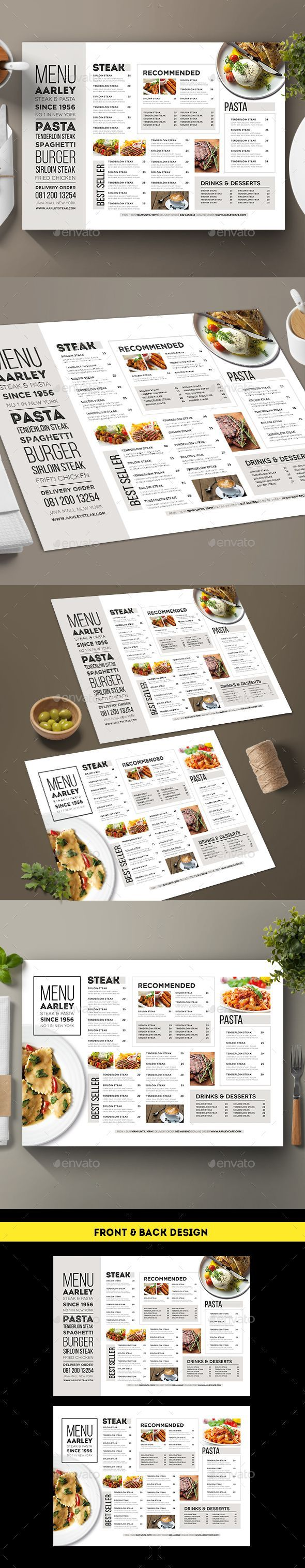 Typography Menu — AI Illustrator #menu #simple • Download ➝ https://graphicriver.net/item/typography-menu/18778849?ref=pxcr