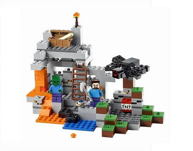 LEGO Minecraft The Cave (21113) by tormentalous, via Flickr
