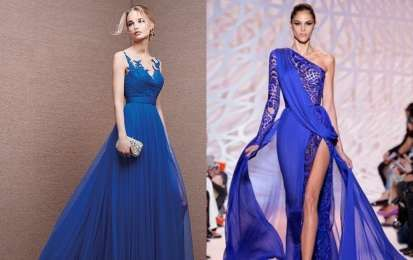 Abiti da cerimonia blu: i modelli più raffinati [FOTO] - Gli abiti da cerimonia blu sono i più amati dalle donne moderne, modelli lunghi e corti in forme raffinate: le foto dei più chic.