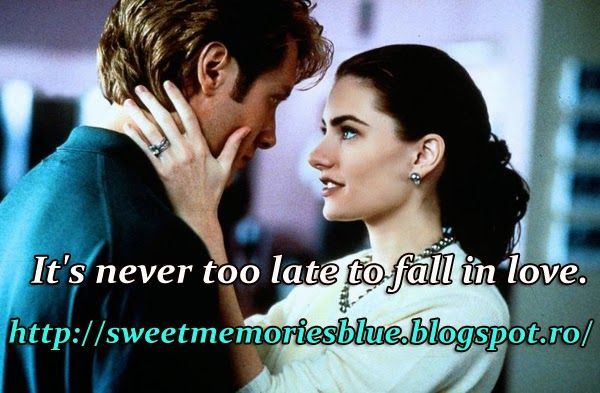 sweet memories: It's never too late to fall in love.