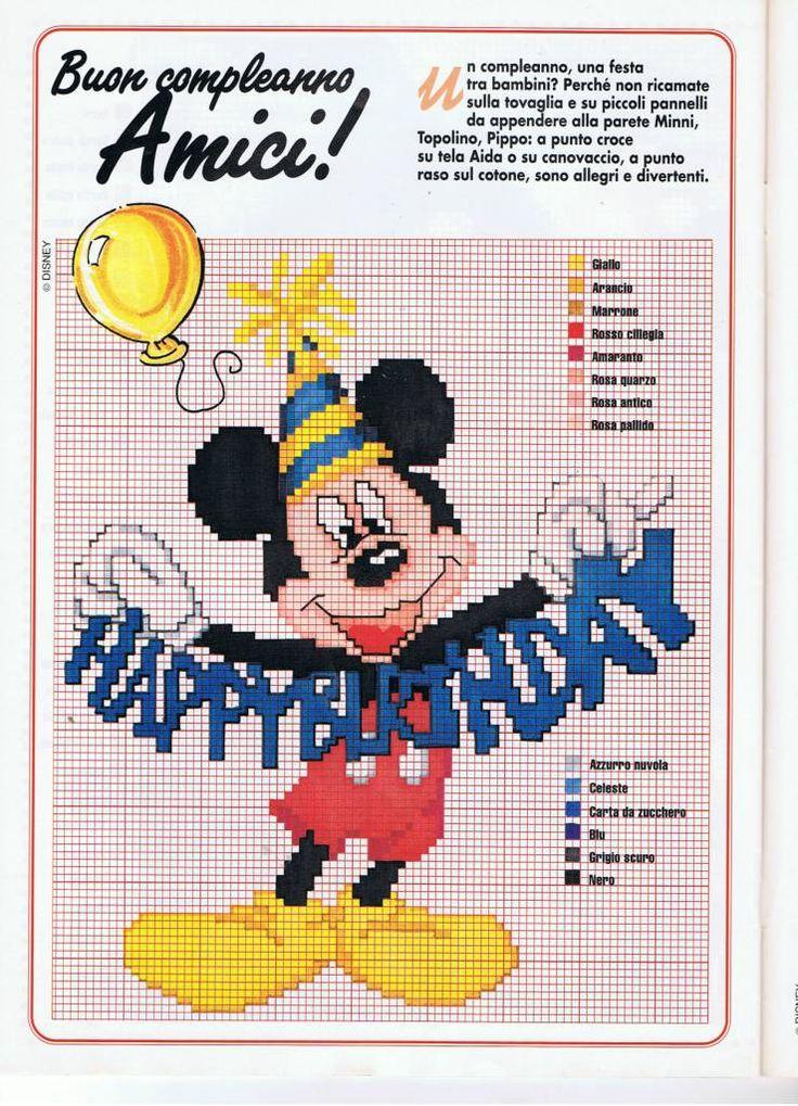 Mickey Mouse com o texto Feliz Aniversário
