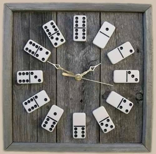 #reloj#domino#decor