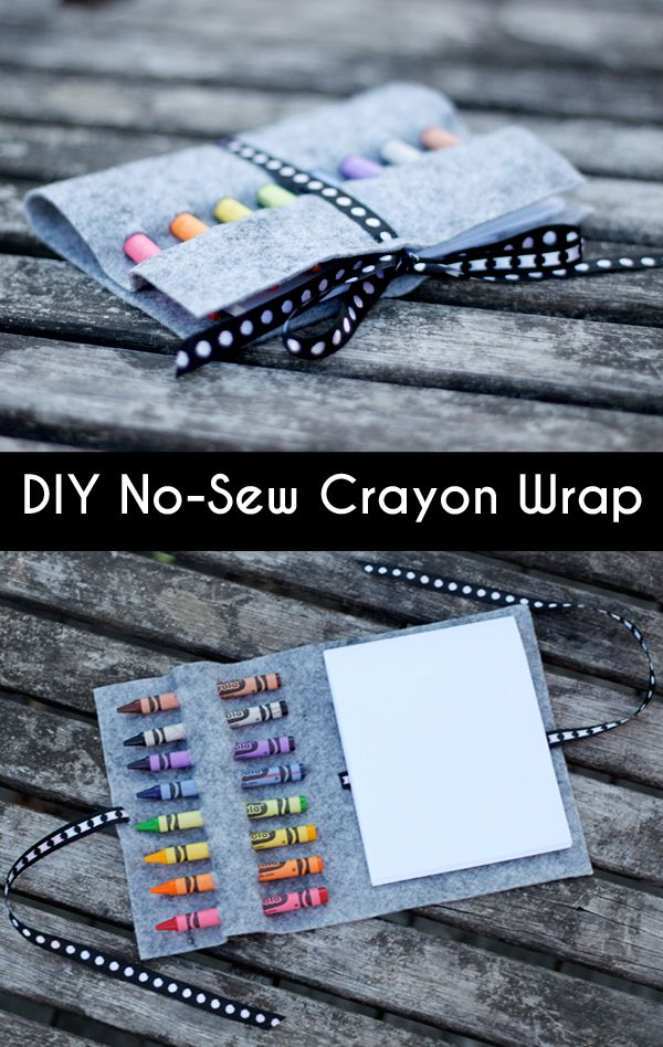 Make a no-sew crayon wrap—perfect for coloring on the go! Full tutorial with a template.