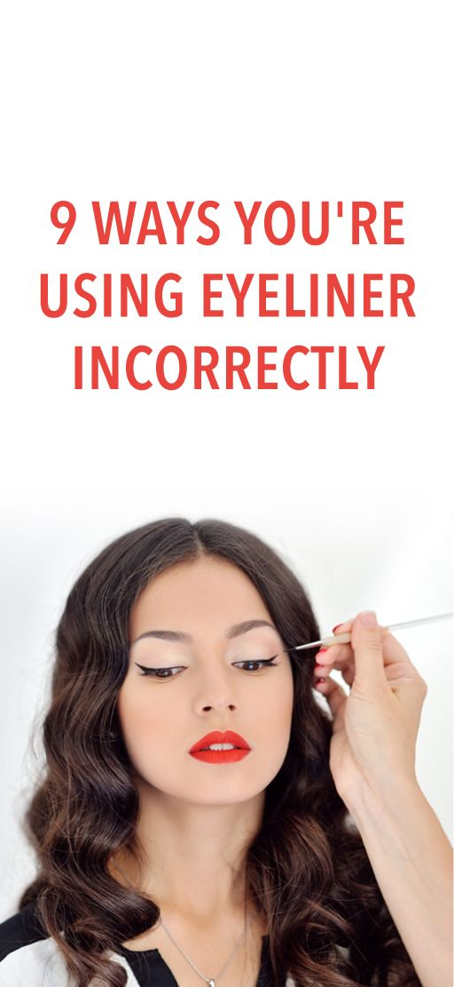 9 mistakes you're making with your eyeliner #Eyeliner #MakeUp #Beauty #Tips #Tricks