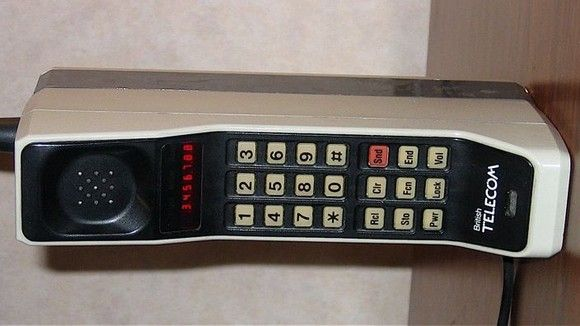 The 1st mobile phone - the Motorola DynaTAC 8000X from 1983