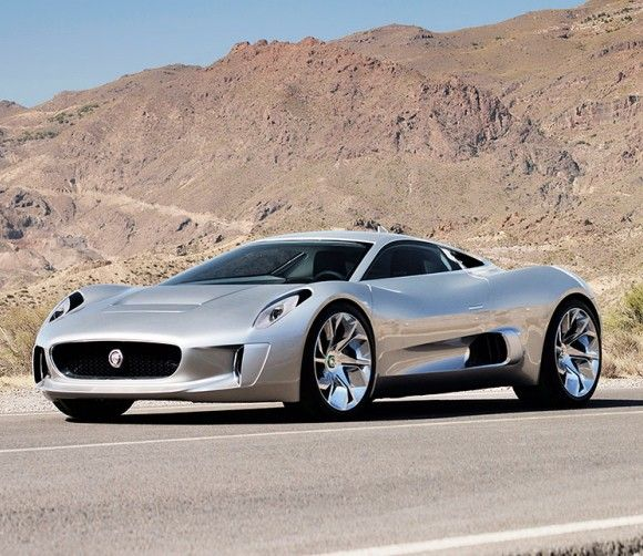 Jaguar C-X75 -- And it's an all-electric car that produces 778 horsepower through four electric motors and the batteries driving these motors are recharged using two diesel-fed micro gas turbines instead of a conventional 4-stroke engine