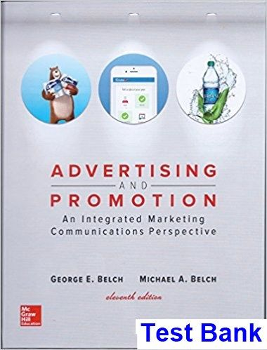 Advertising and promotion an integrated marketing communications advertising and promotion an integrated marketing communications perspective 11th edition belch test bank test bank solutions manual exam bank fandeluxe Images