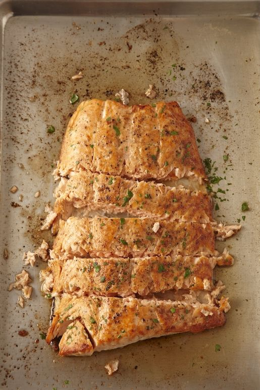 Oven Roasted Salmon Recipe from How to Cook Everything: The Basics .http://markbittman.com/how-to-cook-roasted-salmon/