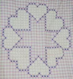 Broderie Suisse, Chicken scratch, Swiss embroidery, Bordado espanol, Stof veranderen.