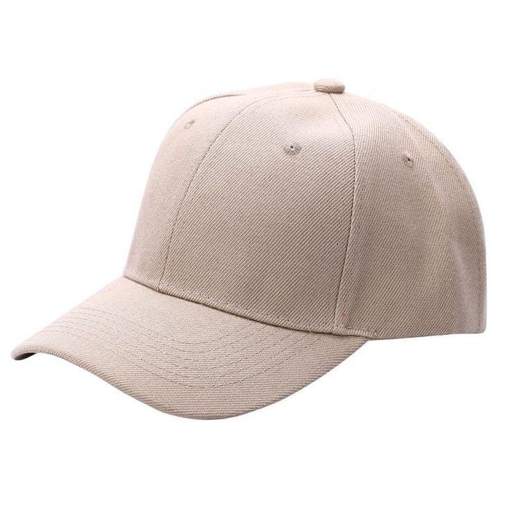 Men Women Plain Baseball Cap Unisex Curved Visor Hat Hip-Hop Adjustable Peaked Hat Visor Caps Solid
