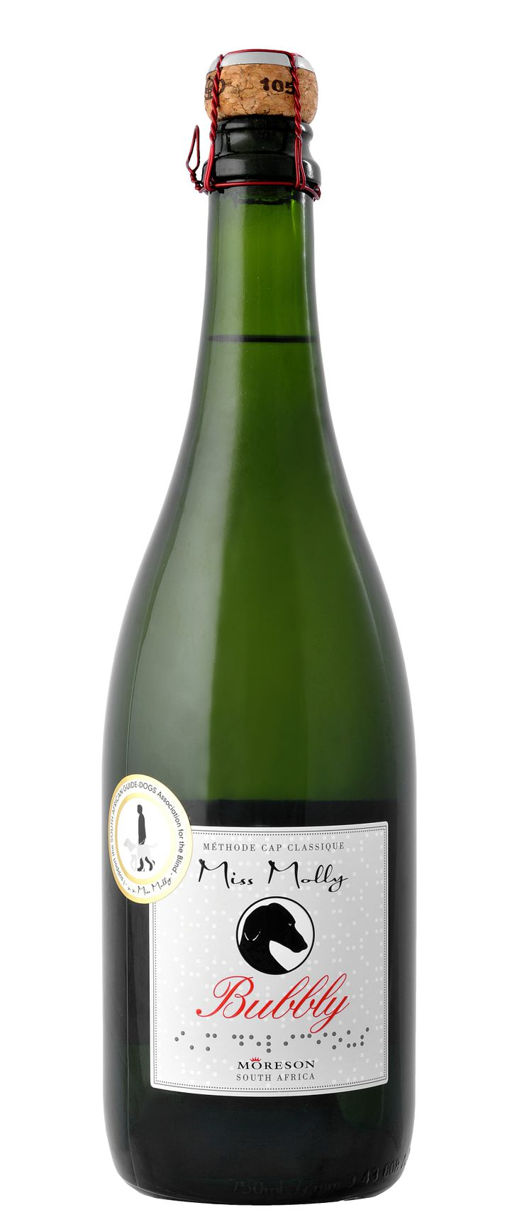 Miss Molly Bubbly - this is a fabulous traditionally made sparkling wine from South Africa. Lively and delightful.