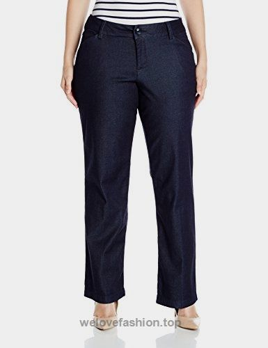 Lee Women's Plus-Size Modern Series Curvy Fit Maxwell Trouser, Midnight Rinse Denim, 24W Medium BUY NOW     $31.59    Midrise in the front, higher in the backStraight-leg pant featuring curved back yoke, slanted front pockets, and welted back pockets No-gap waistband is midrise in fr ..