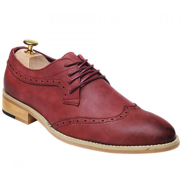 Fashion Lace-Up and Engraving Design Formal Shoes For Men #men #shoes #fashion #style
