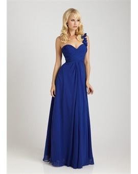 Royal blue bridesmaids dresses.