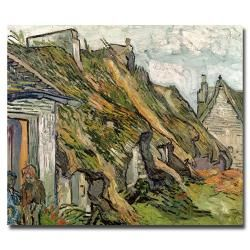 Vincent van Gogh 'Cottages in Chaponval, Auvers-sur-Oise' Horizontal | Overstock™ Shopping - Top Rated Trademark Fine Art Canvas