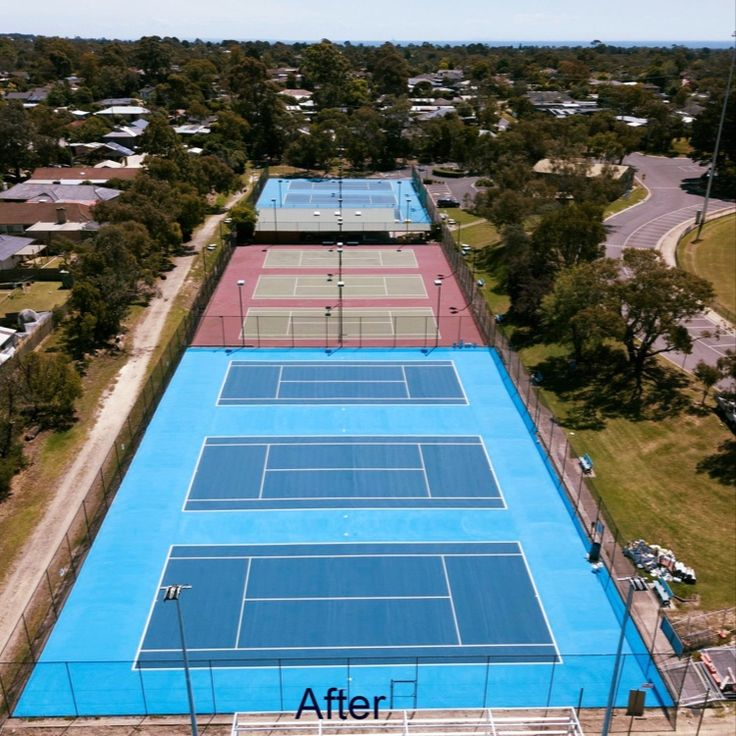 Check out this 'ace' tennis court refurbishment recently
