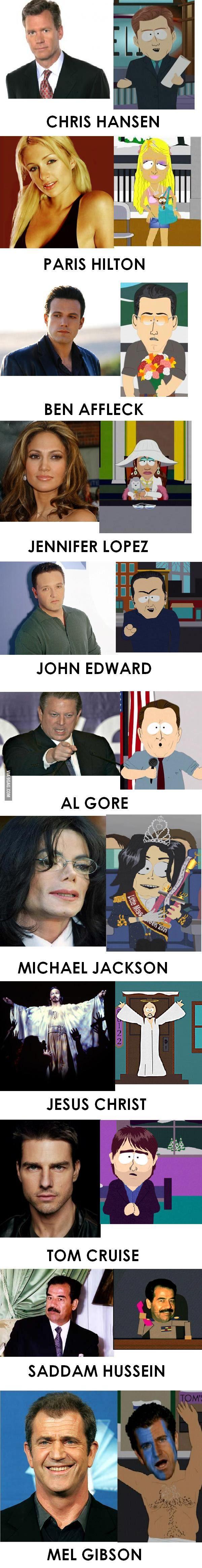 South Park Celebrities