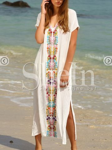 rochie lunga boho alba