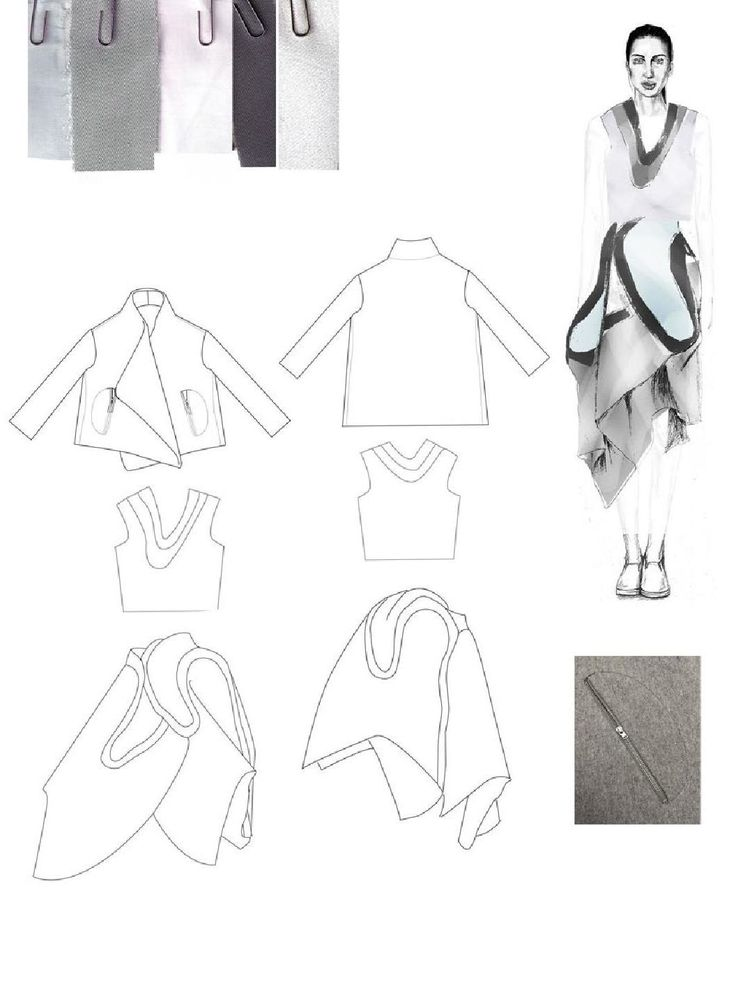 Fashion Sketchbook - fashion design drawings; fashion portfolio layout // Emma Berry