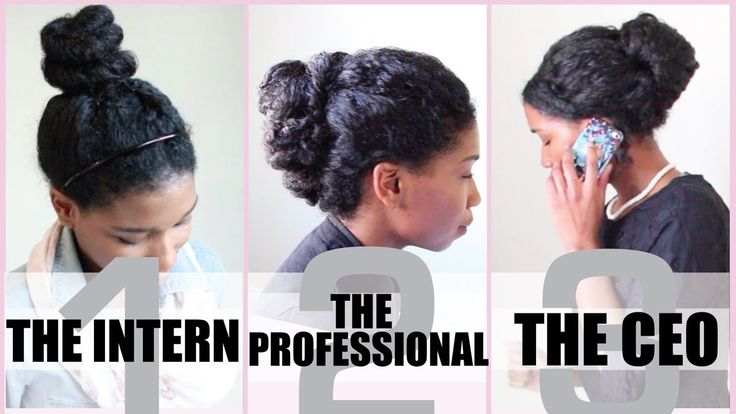 3 NO HEAT Corporate Protective Styles for Medium Length Natural Hair - N...