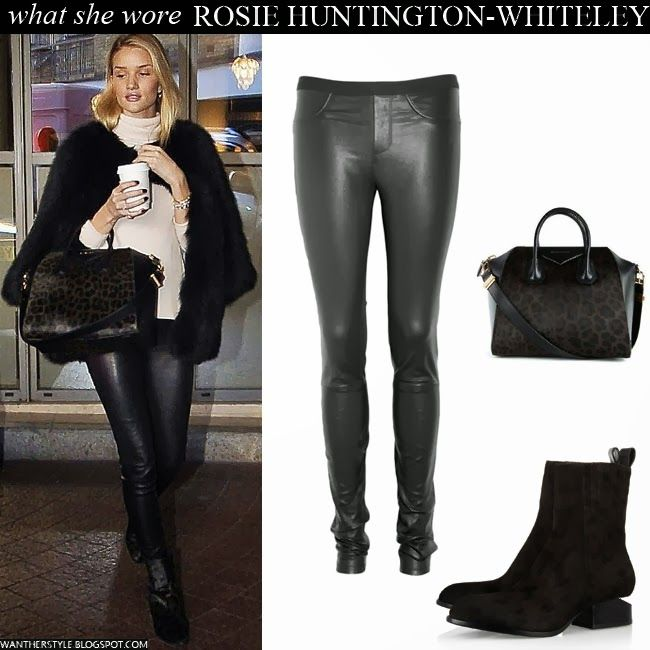 Black leather pants with knee high boots