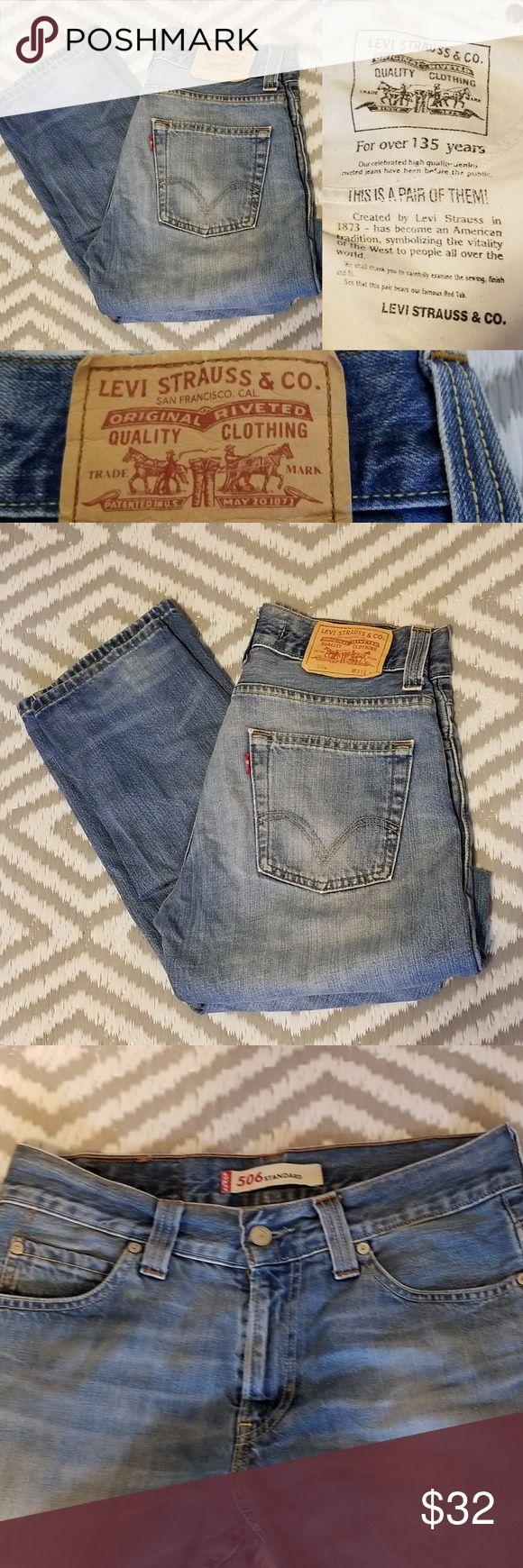 LEVI'S 506 Vintage High Waist Denim Jeans Great condition high waist mom jean fit vintage Levi's 506 31 x 34 Levi's Jeans Straight Leg