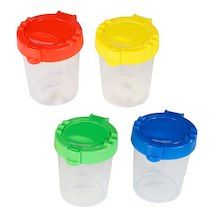 Ningbo No Spill Paint Cups, Assorted
