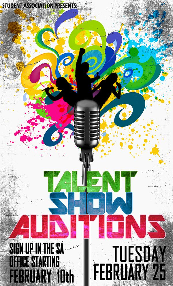 Promo Poster For Talent Show On Behance Poster
