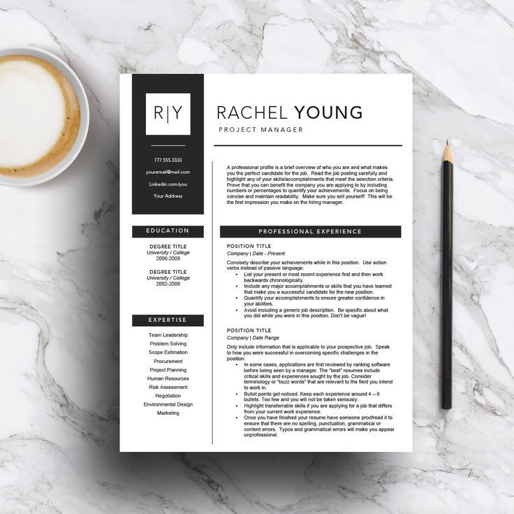 Modern CV template for Word and Pages (includes a 1, 2 & 3 page resume + cover letter) Professional Resume Template   instant download by templatestudio on Etsy https://www.etsy.com/listing/511484899/modern-cv-template-for-word-and-pages