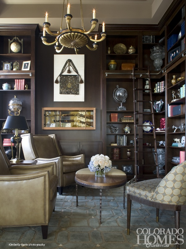 Library Design By Beth Armijo; Photo By Kimberly Gavin For @Colorado Homes  U0026 Lifestyles