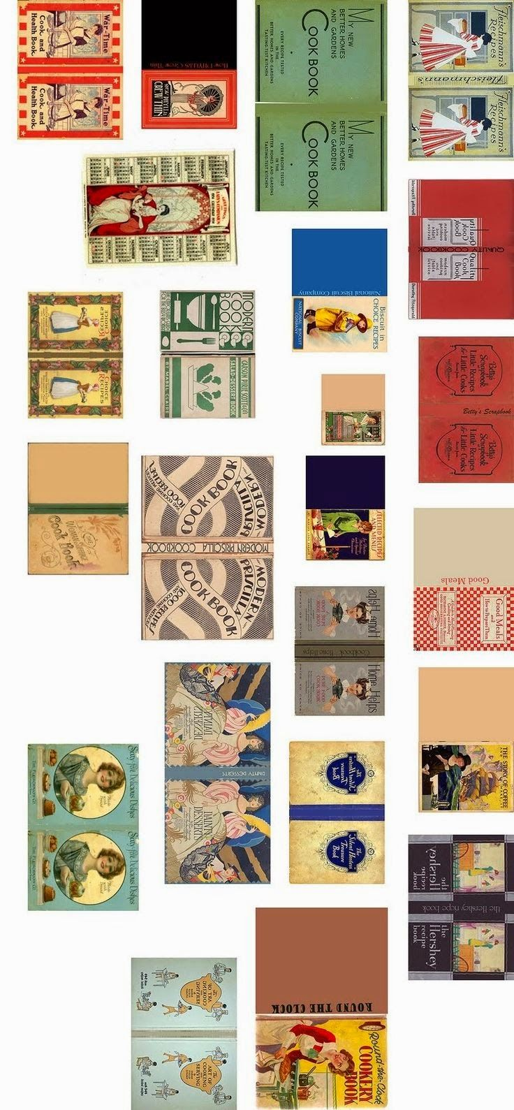 Herbie's Collection of Printable Minis & Scaleable Images For Dolls Houses: Doll's House printable Book covers - some for resize
