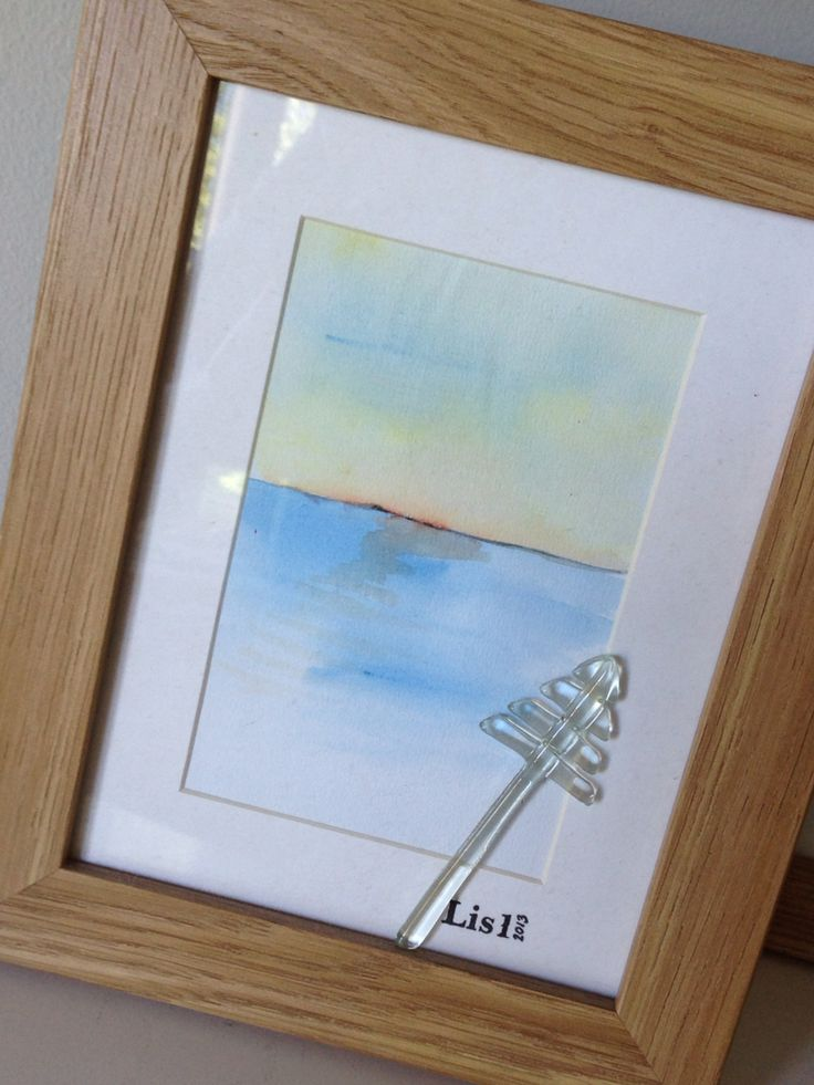 #målning #akvarell #fusing #sjömärke #konst #tavla #Lis1