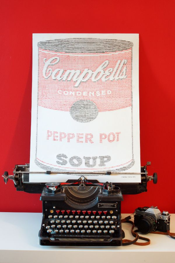 ASCII-Art: Handtyped Campbell's Condensed Soup - Handgetippte Campbell's Suppendose