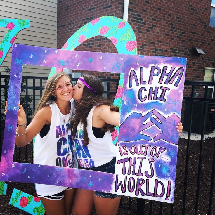 Alpha Chi Omega Out of this World Bid Day theme...