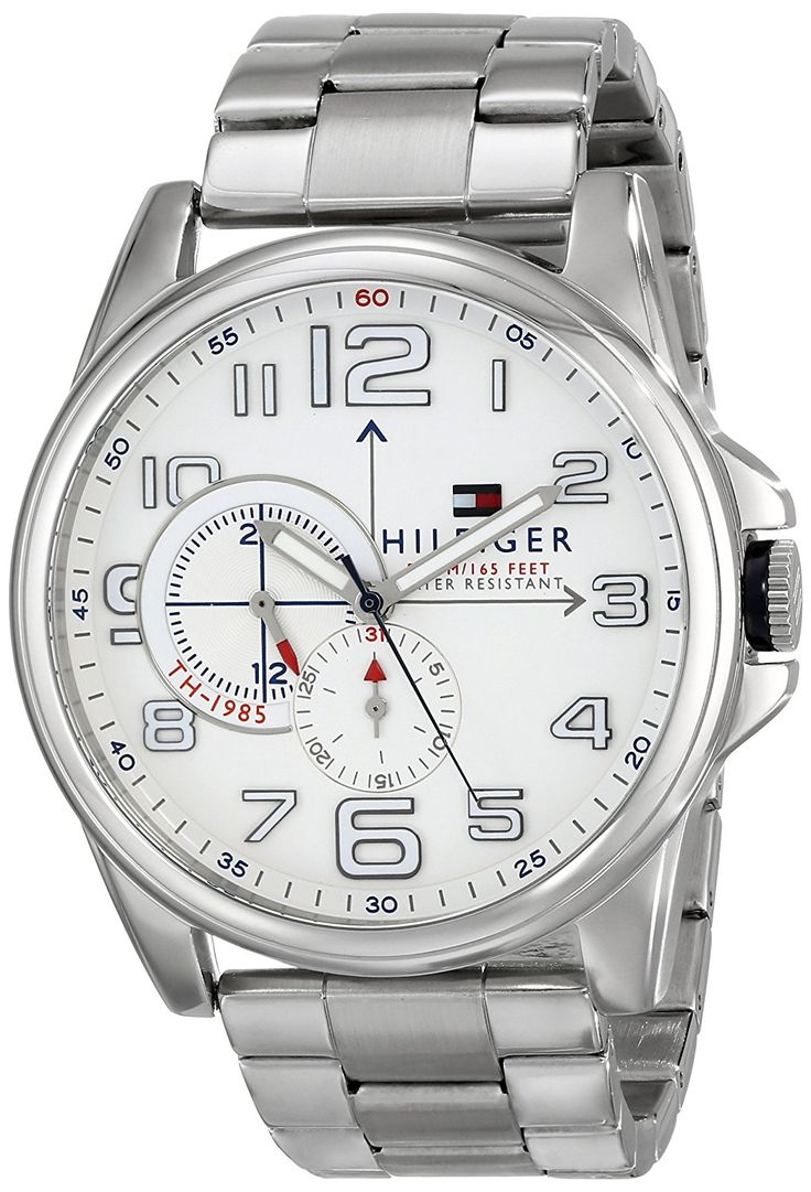 Tommy Hilfiger Men's 1791006 Analog Display Quartz Silver Watch *** Details can be found by clicking on the image.