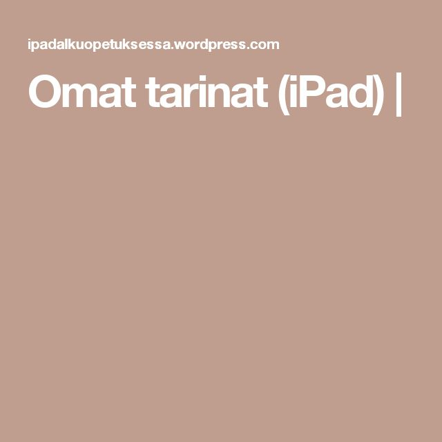 Omat tarinat (iPad) |