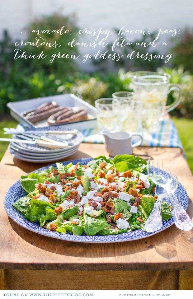 avocado, crispy bacon, peas, croutons and feta.....Ultimate Braai Day Salad